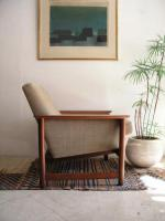Low Back Chair with Teak Arm from the Netherlands