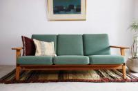 Sold/GE-290 3seater Sofa/Oak